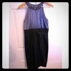 Black Dress with jewel neckline